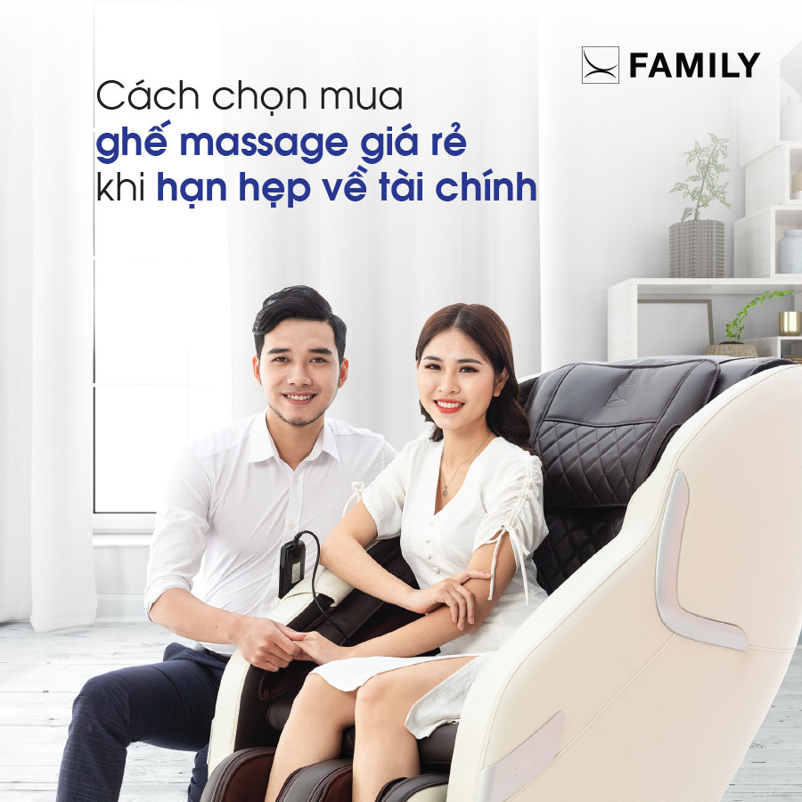 Cách chọn mua ghế massage giá rẻ khi hạn hẹp về tài chính