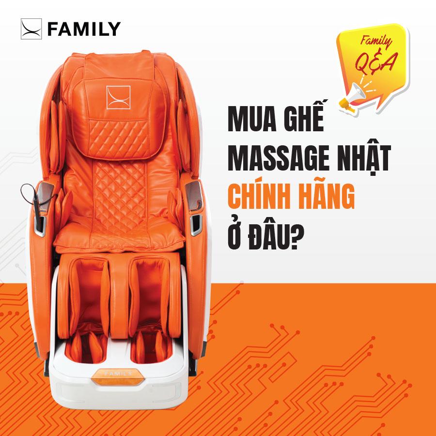 Mua ghế massage Nhật Bản chính hãng ở đâu?