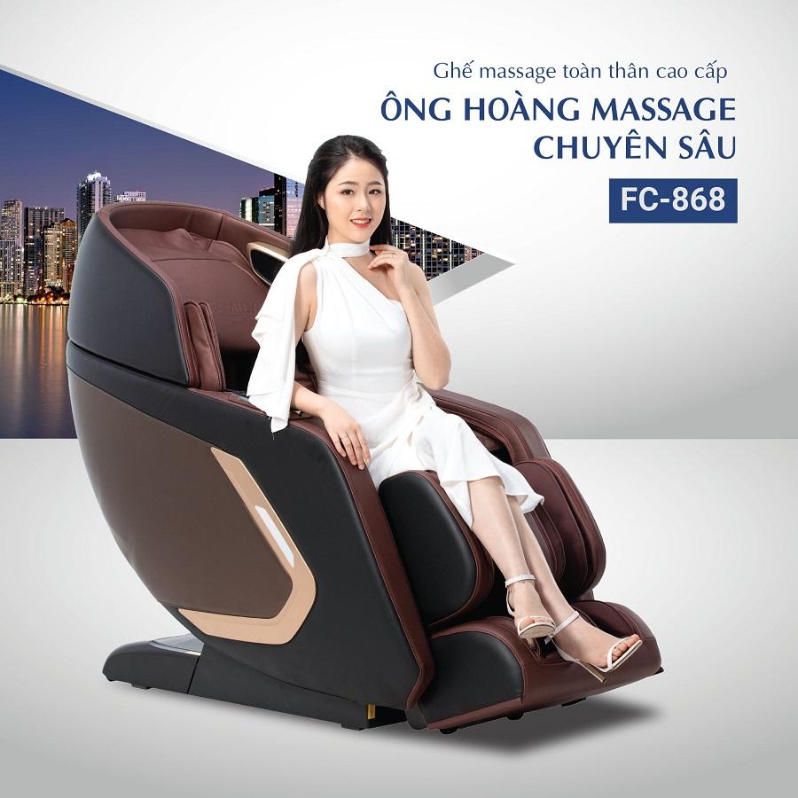 FC 868 mẫu ghế massage mới nhất 2020 - Ông hoàng massage chuyên sâu