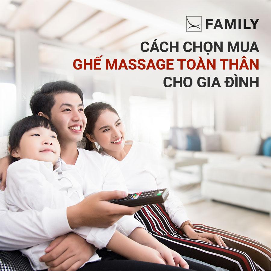 Cách chọn mua ghế massage toàn thân cho gia đình