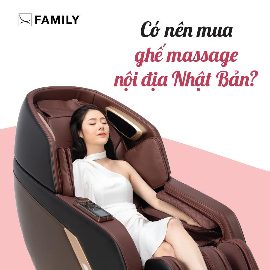 Có nên mua ghế massage nội địa Nhật Bản?