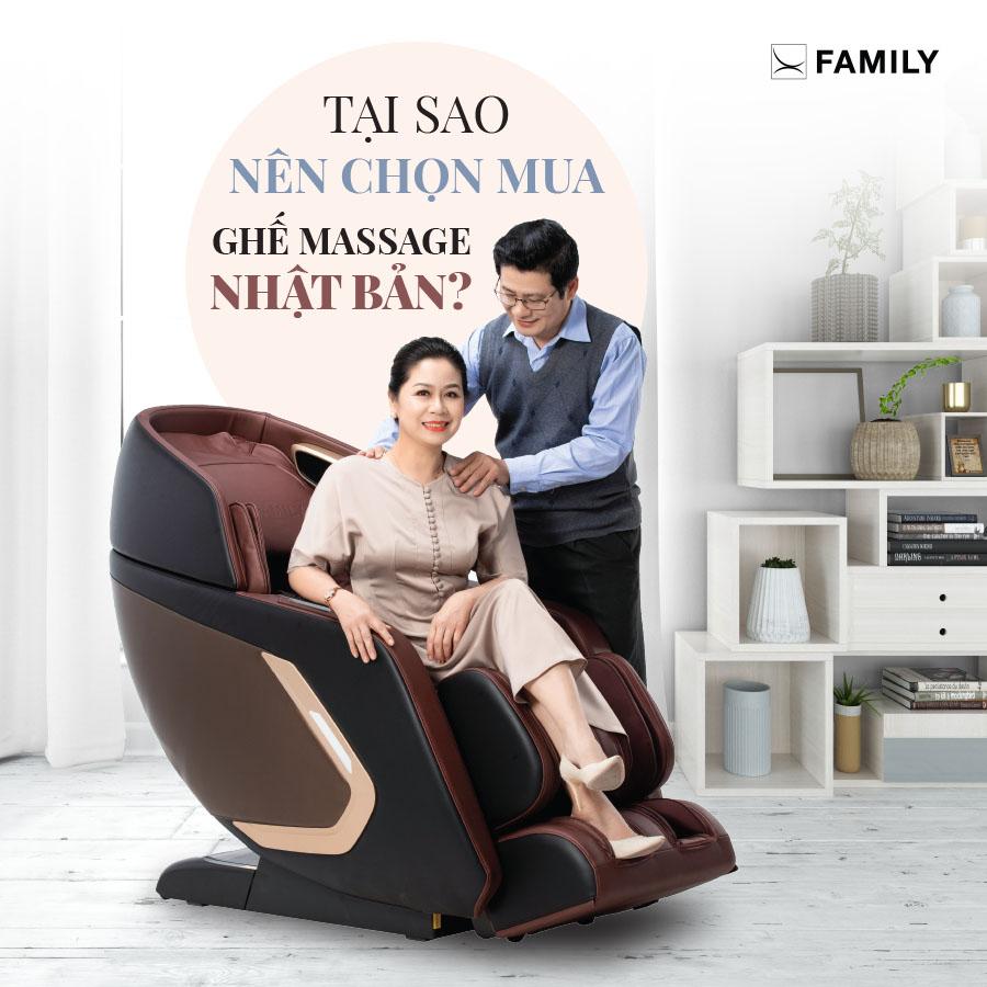 Tại sao lại nên chọn mua ghế massage Nhật Bản?