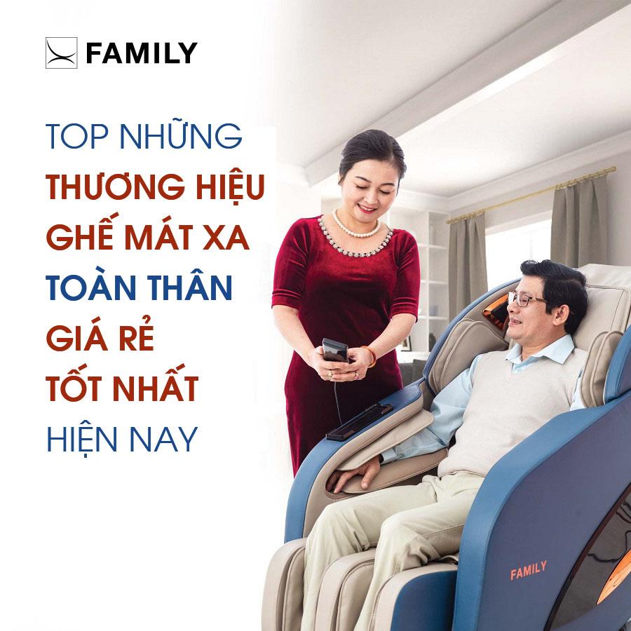 Top những thương hiệu ghế mát xa toàn thân giá rẻ tốt nhất hiện nay