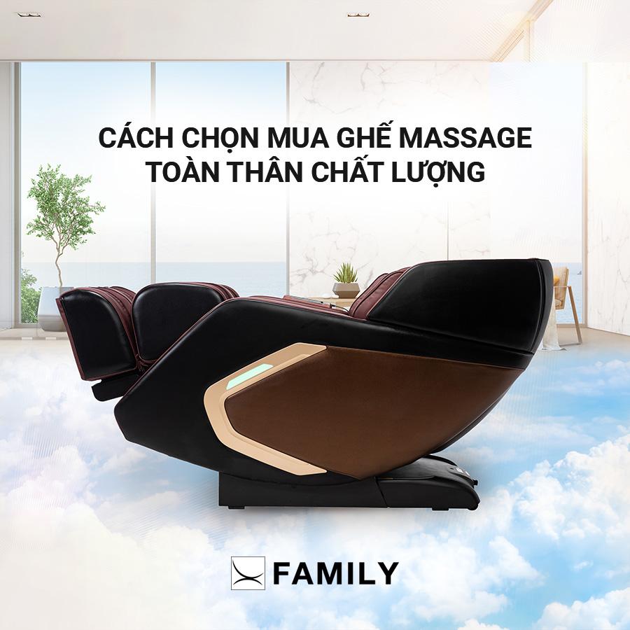 Cách chọn mua ghế Massage toàn thân chất lượng?