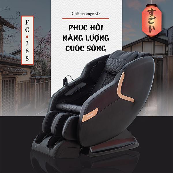 Ghế Massage 3D FC-388 (Phục hồi năng lượng cuộc sống)
