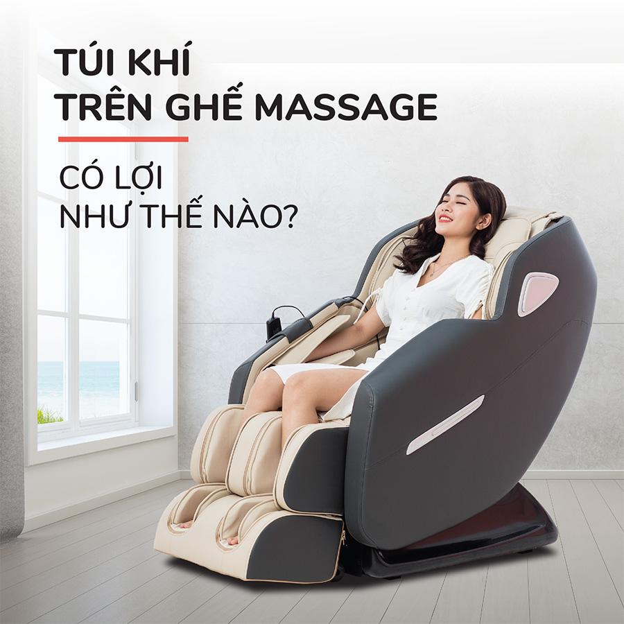 Túi khí trên ghế massage có lợi như thế nào?