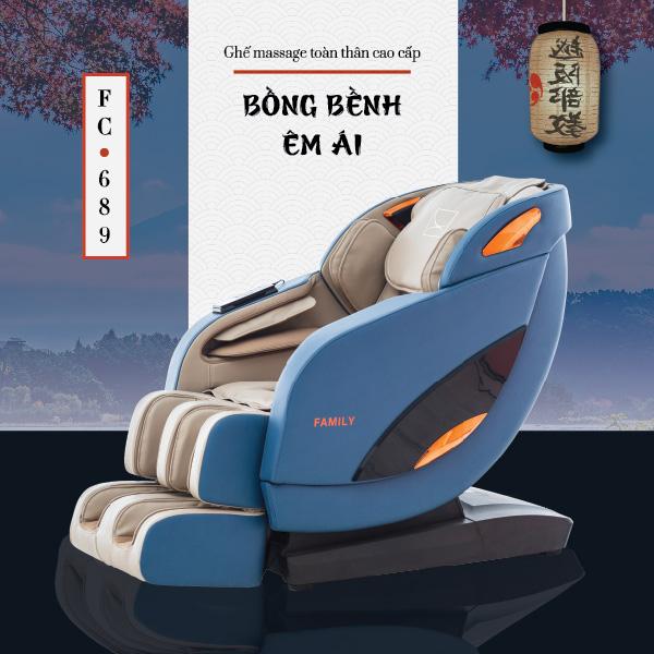 Ghế Massage Toàn Thân Cao Cấp FC-689 (Bồng bềnh êm ái)