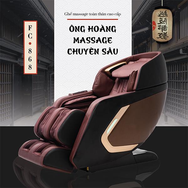 Ghế Massage Toàn Thân Cao Cấp FC-868 (Tuyệt đỉnh massage)