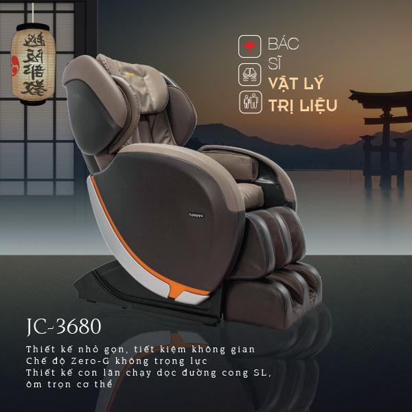 Ghế Massage JC-3680 Made in Japan (Bác Sĩ Vật Lý Trị Liệu)
