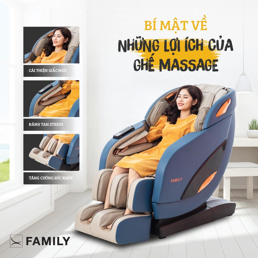 Bí mật về những lợi ích của ghế massage