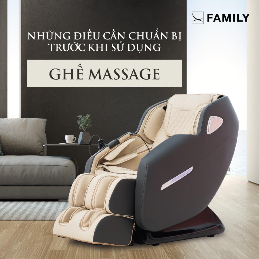 Những điều cần chuẩn bị trước khi sử dụng ghế massage
