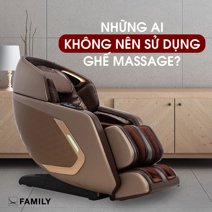 Những ai không nên sử dụng ghế massage