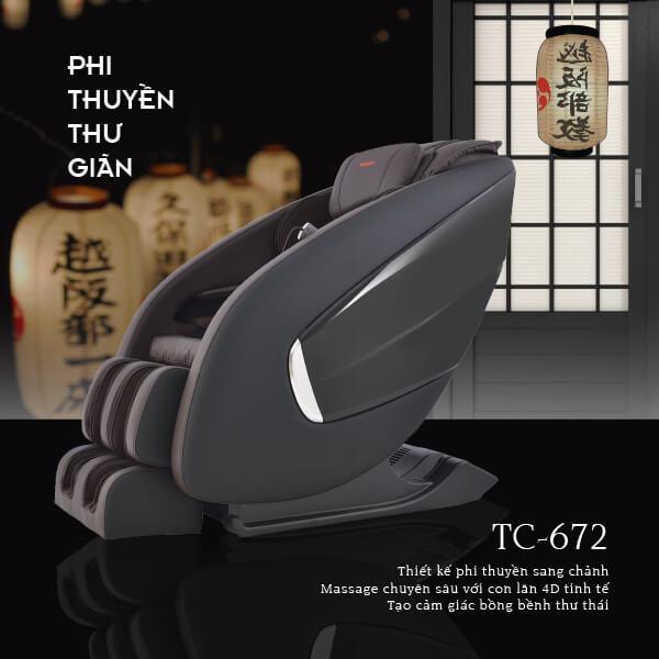 Ghế Massage Nhật Bản TC-672 (Tuyệt Đỉnh Thư Giãn)