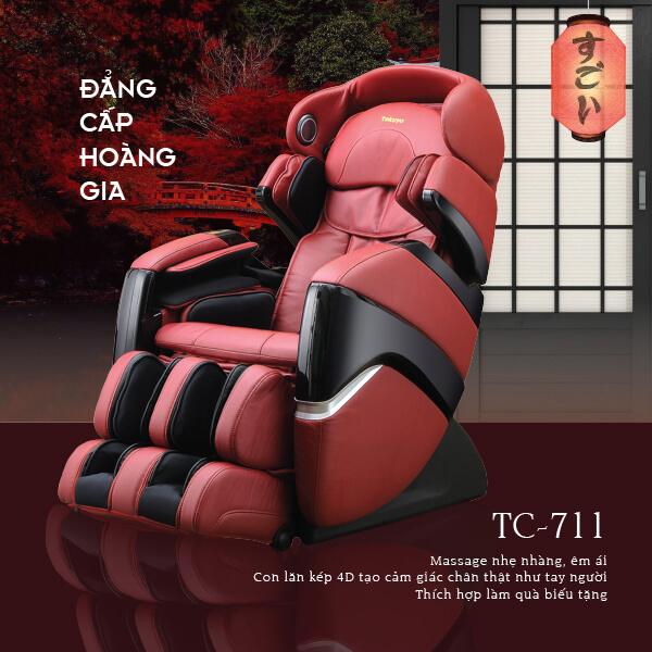 Ghế Massage Cao Cấp 4D Plus TC-711 (Đẳng Cấp Hoàng Gia)