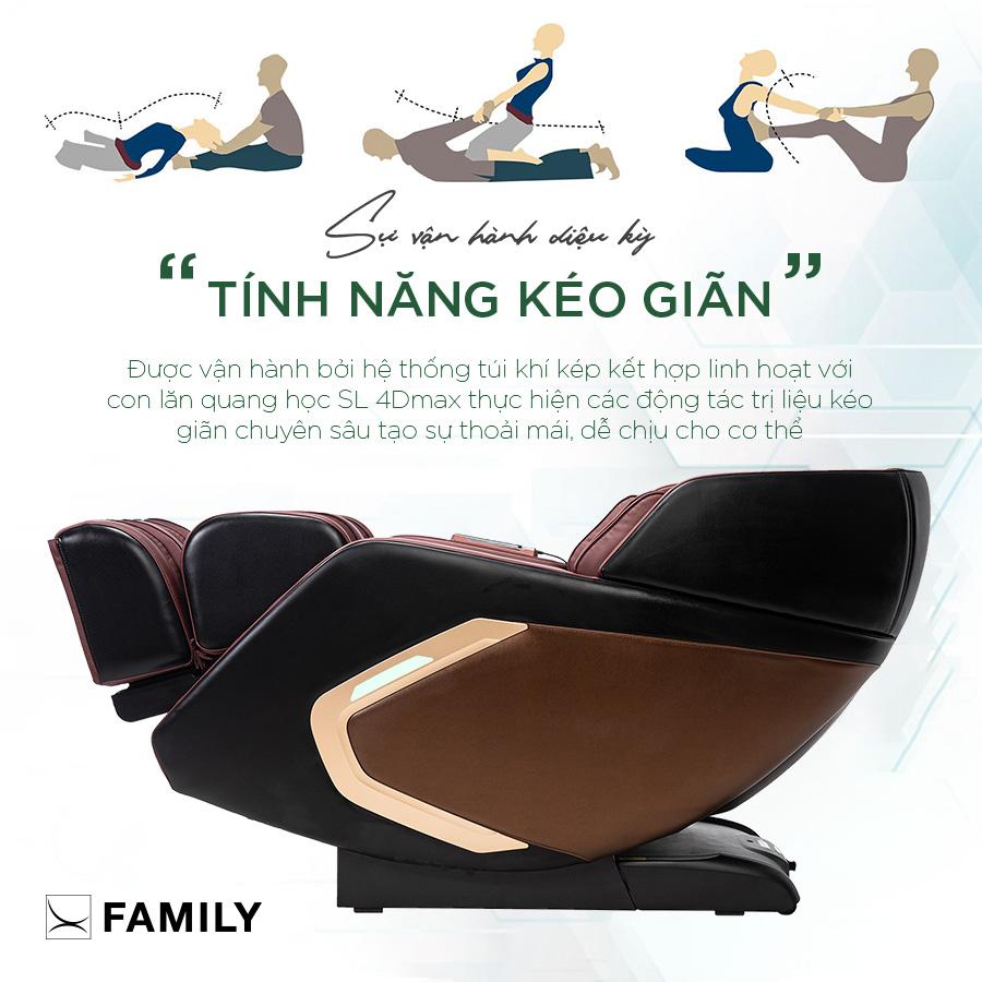 Tác dụng và tính năng của chế độ kéo giãn của ghế massage
